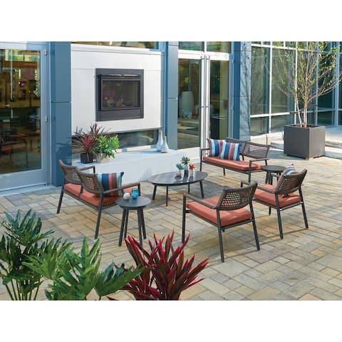 Oxford Garden Eiland Mocha Composite Cord Club Chair (Set of 2)