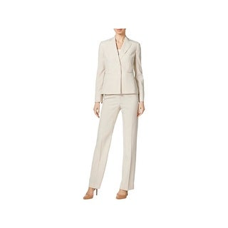 Le Suit Womens Pant Suit Striped Long Sleeves