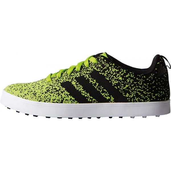 Shop Adidas Men s Adicross Primeknit Solar Slime Black White Golf Shoes  F33352 - Free Shipping Today - Overstock - 19875528 f2ca65180d