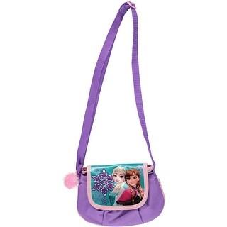 Disney Frozen Anna Elsa Pom Pom Corssbody Handbag