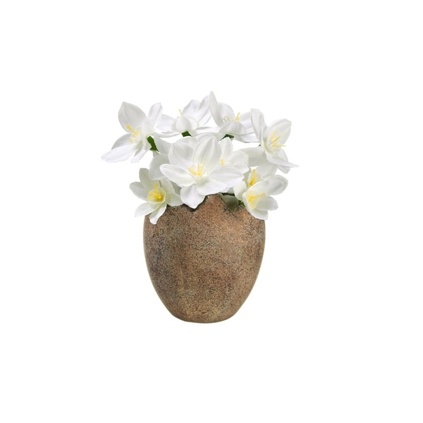 Shop 45 decorative paperwhite silk flowers potted in easter egg 45 decorative paperwhite silk flowers potted in easter egg spring decoration mightylinksfo