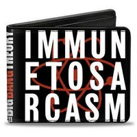 Immune To Sarcasm Atom Black Red White Bi Fold Wallet - One Size Fits most
