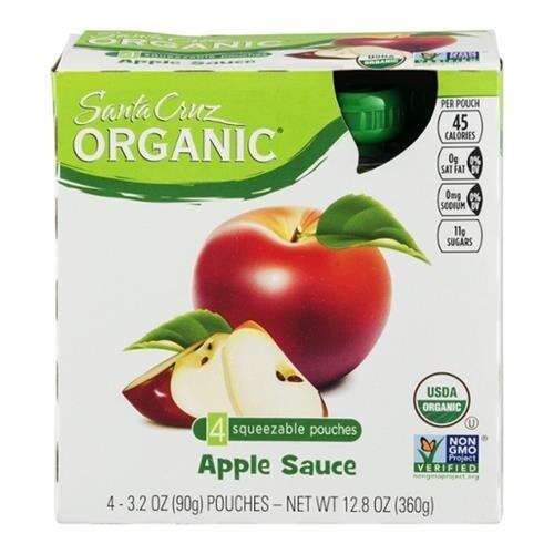 Santa Cruz Organic - 4 Pack Apple Sauce ( 24 - 3.2 OZ)