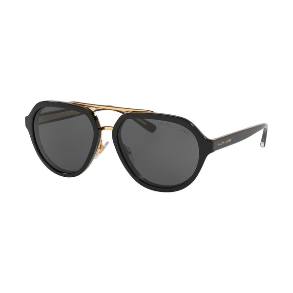 Ralph Lauren RL8174 500187 57 Black Woman Irregular Sunglasses. Opens flyout.