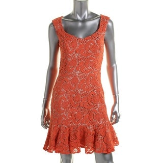 Erin Fetherston Womens Lace Sleeveless Cocktail Dress