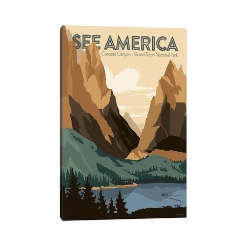 "iCanvas ""Cascade Canyon, Grand Teton National Park By Jonathan Scheele"" by Creative Action Network Canvas Print"