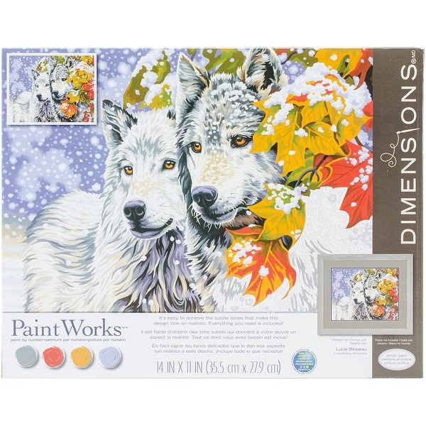 """Paint Works Paint By Number Kit 14""""X11""""-Early Snowfall"""