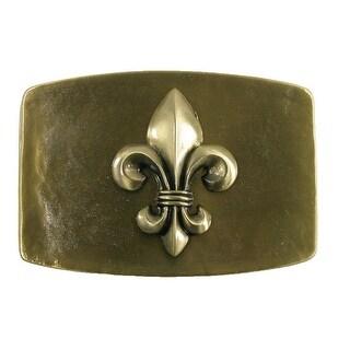 CTM® Vintage Fleur de Lis Belt Buckle - Bronze - One Size