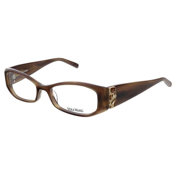 Vera Wang V 077 BR 50 Brown Full Rim Rectangular Optical Frame - 50-16-130