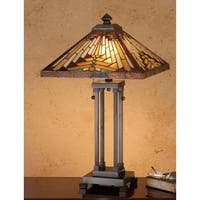 Meyda Tiffany 66230 Stained Glass / Tiffany Table Lamp from the Mission Collection - n/a