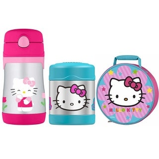 THERMOS Hello Kitty Lunch Kit w/ 10 oz Straw Bottle and 10 oz Food Jar