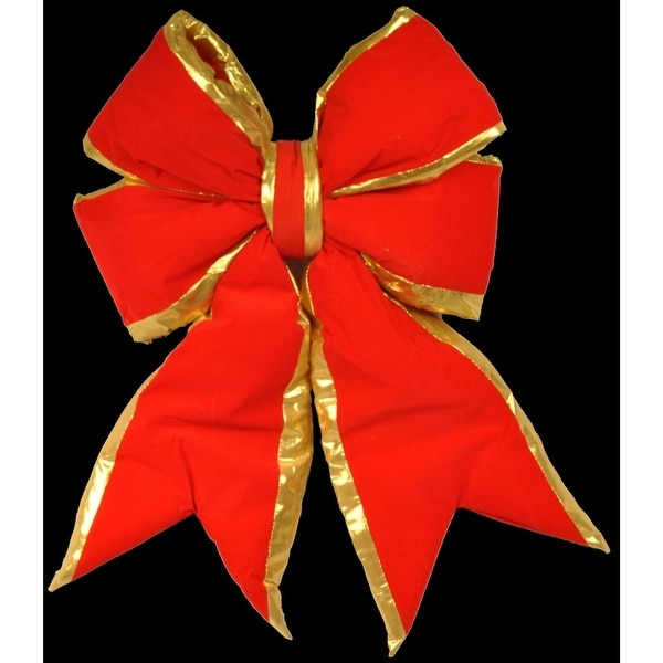 Christmas at Winterland WL-BOW-18-RE/GO 18 Inch Red with Gold Trim Holiday Bow