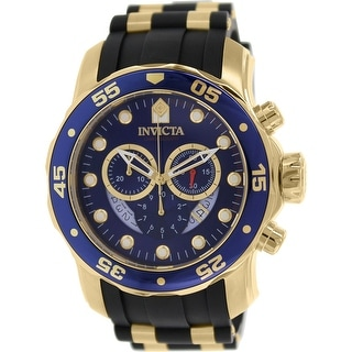 Link to Invicta Men's Pro Diver  Gold Rubber Swiss Chronograph Fashion Watch Similar Items in Men's Watches