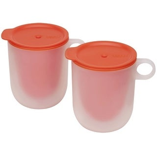 Joseph Joseph M-Cuisine Cool Touch Microwave Mug (Set of 2), Orange