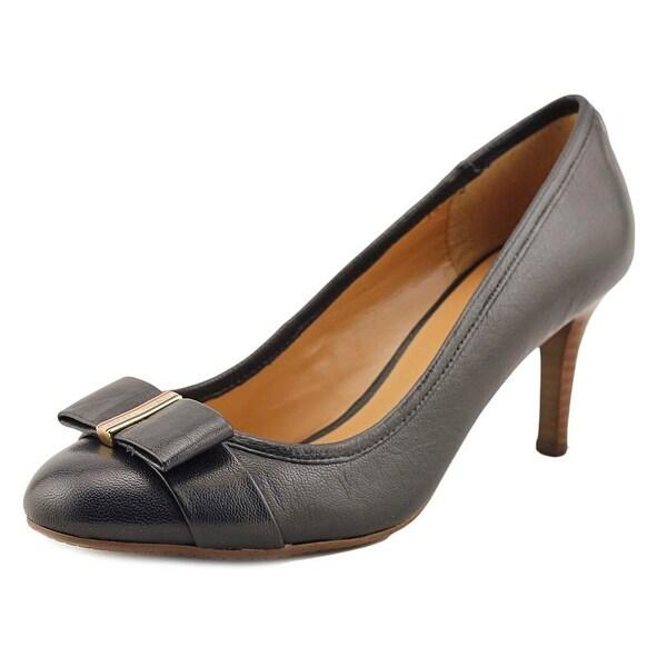 115da0ce3 Shop Tommy Hilfiger Kendley 2 Women Round Toe Leather Blue Heels ...