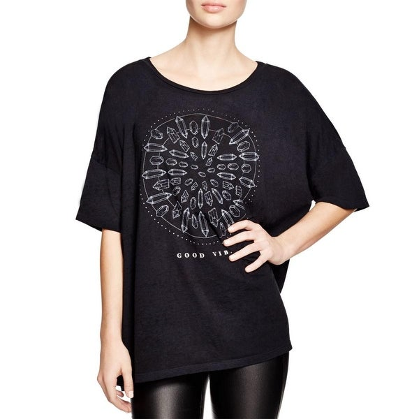 Project Social T Womens Casual Top Dolman Graphic