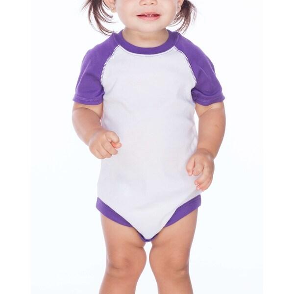 Kavio! Unisex Infants Raglan Short Sleeve Bodysuit