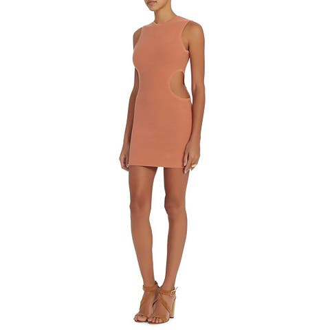 Ronny Kobo Womens Nava Nude Cut Out Dress Size Large
