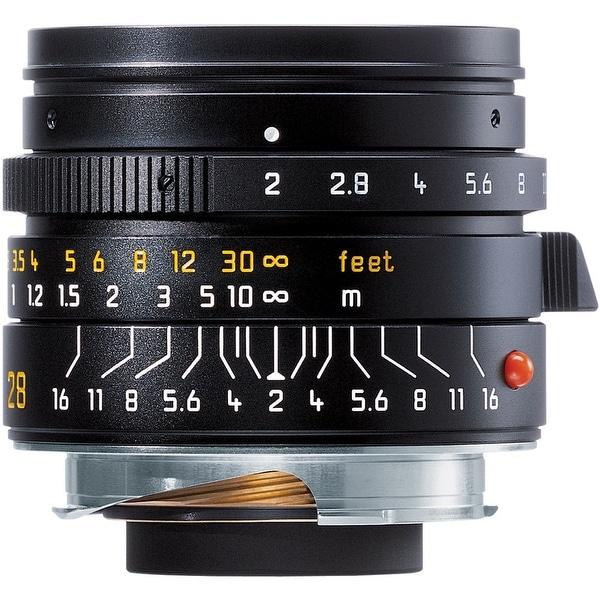 Leica Summicron-M 28mm f/2.0 Lens (6-Bit, Manual Focus) - black