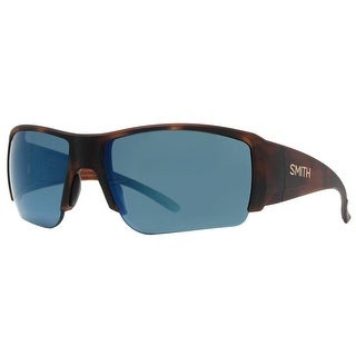 SMITH OPTICS Sport Captain's Choice Men's S3 Matte Havana Polarized Blue Mirror Sunglasses - 66mm-16mm-120mm