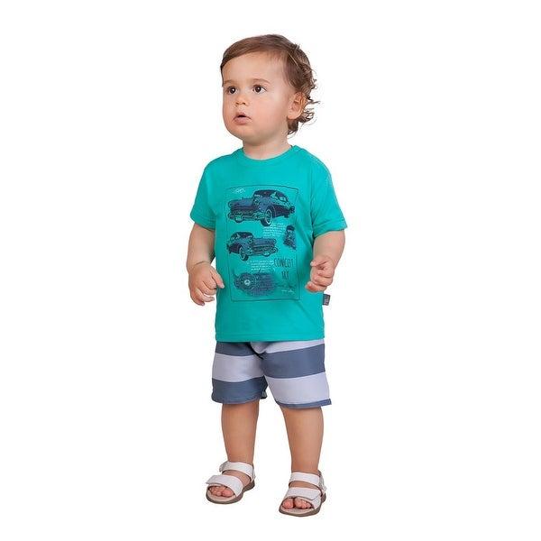 Pulla Bulla Baby Boy 2-Piece Set Shirt and Shorts Outfit