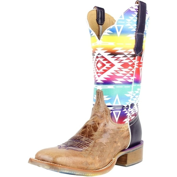 Cinch Western Boots Womens Cowboy Edge Leather Aztec Brown