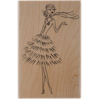"""Penny Black Mounted Rubber Stamp 3""""X4.5""""-Dressed To Impress"""
