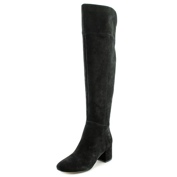 Franco Sarto Kerri Women Round Toe Suede Black Knee High Boot