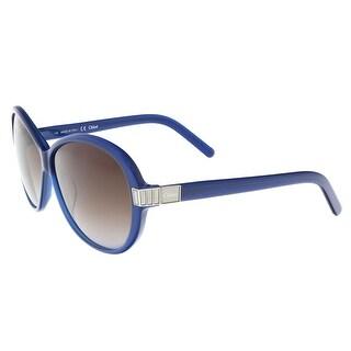 Chloe CE605/S 424 Blue Round Sunglasses
