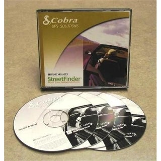 Cobra GPA1500SW GPS Solutions StreetFinder Software 4 CD with Case