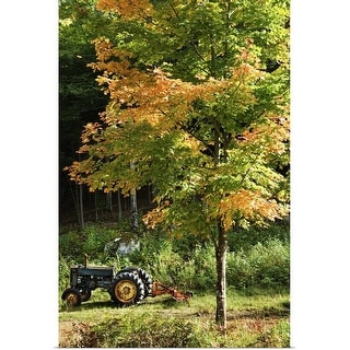 """""""Tractor near tree"""" Poster Print"""