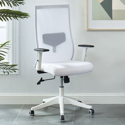 Furniture of America Tane Contemporary Modern Mesh Fabric Office Chair