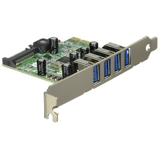 Startech - Pexusb3s4v 4Port Usb 3.0 Pci Expressncard With Uasp Support
