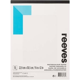"""35 Sheets - Reeves Water Colour Paper Pad 9""""X12"""""""