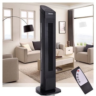 Costway 35'' Tower Fan Portable Oscillating Cooling Air Conditioner Bladeless 3 Speed