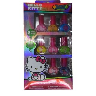 Hello Kitty Girls 8 pc Peel-Able Non Toxic Nail Polish Set