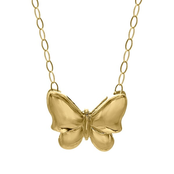 Just Gold Teeny-Tiny Butterfly Pendant in 10K Gold