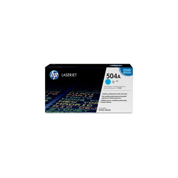 HP 504A Cyan Original LaserJet Toner Cartridge f/ US Government (CE251AG)(Single Pack)