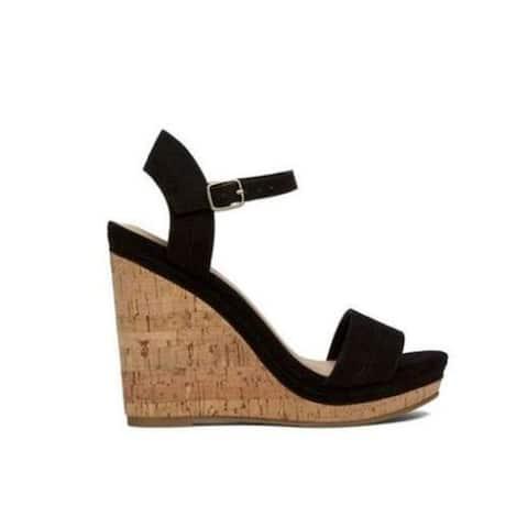 Call It Spring Womens ACAVIEL Fabric Open Toe Casual Platform Sandals
