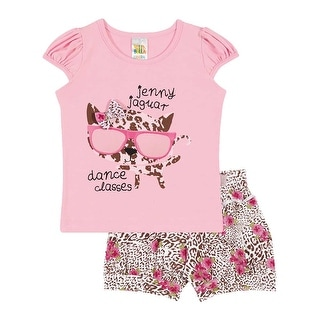 Baby Girl Set Graphic T-Shirt and Shorts Outfit Infant Pulla Bulla 3-12 Months