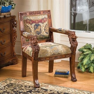 Design Toscano Beardsley Heraldic Lion Armchair