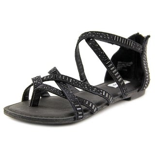 Not Rated Coastin Women Open Toe Canvas Black Sandals