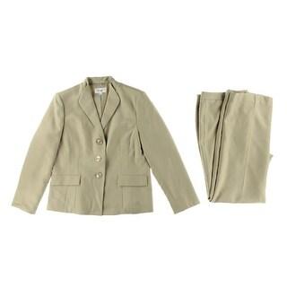 Le Suit Womens Country Club Herringbone 2PC Pant Suit - 16