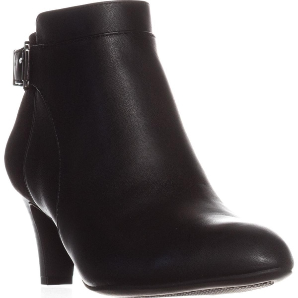 A35 Viollet Ankle Booties, Black Leather