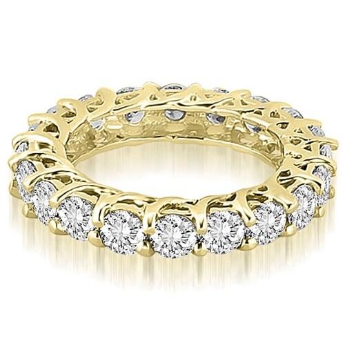 14K Yellow Gold 4.50 cttw. Round Diamond Eternity Ring HI,SI1-2