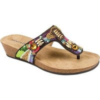 Rialto Women's Carola Thong Sandal Bright Multi Suede
