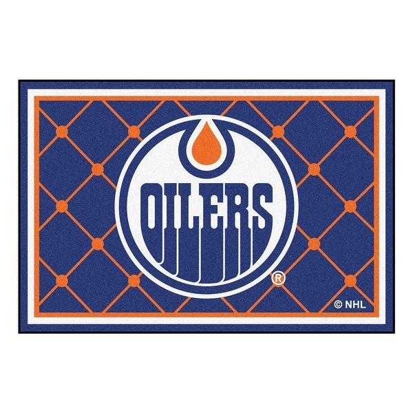 Shop NHL Edmonton Oilers 5 X 8 Foot Plush Non-Skid Area