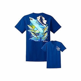 David Dunleavy Mens Inshore Slam SS Tee, Navy , XL