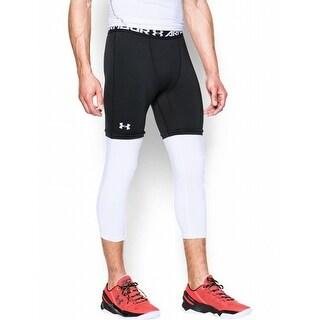 Under Armour NEW Black Mens Size Medium M Compression Cropped Leggings