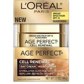 L'Oreal Paris Age Perfect Cell Renewal Day Cream Moisturizer 1.7 oz